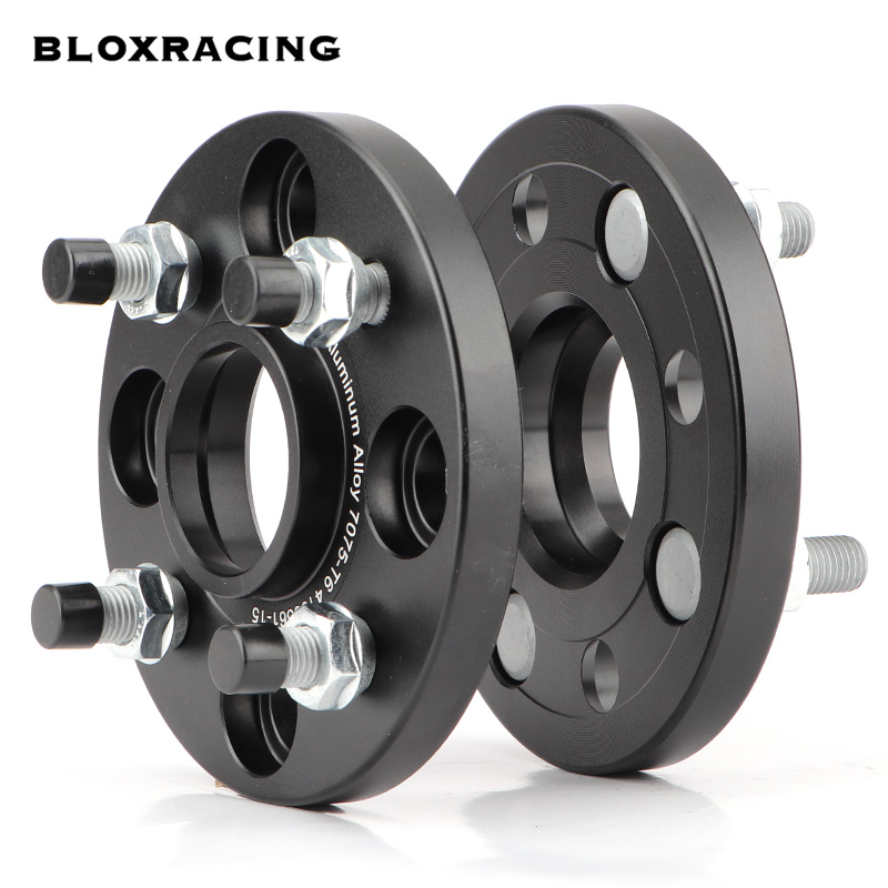 2PCS 15/20mm 7075 aluminum forged wheel spacers adapters set PCD 4x100 CB = 56.1mm(ID = OD) , suitable for HONDA, ACCORD EX CRX