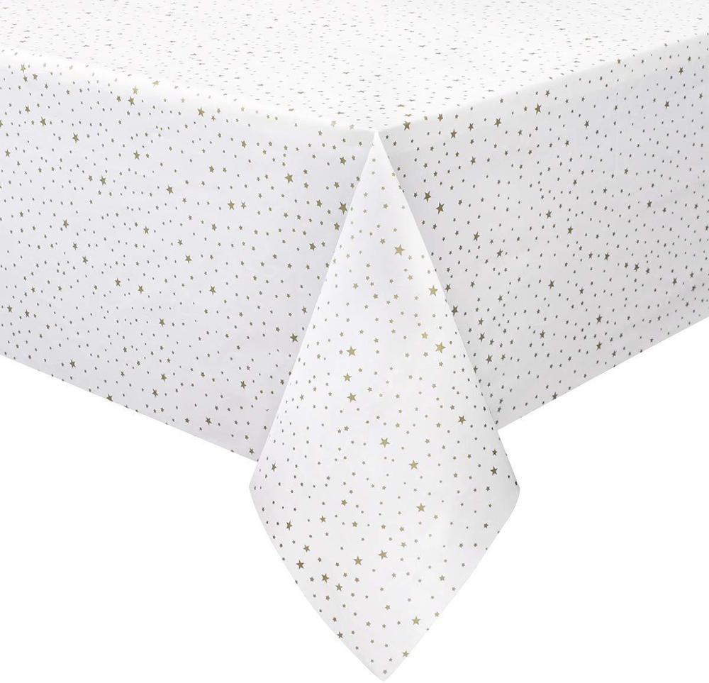 137x274cm Silver Gold Pentagram Table Cover Wedding Decoration Non-woven Home Decoration Accessories