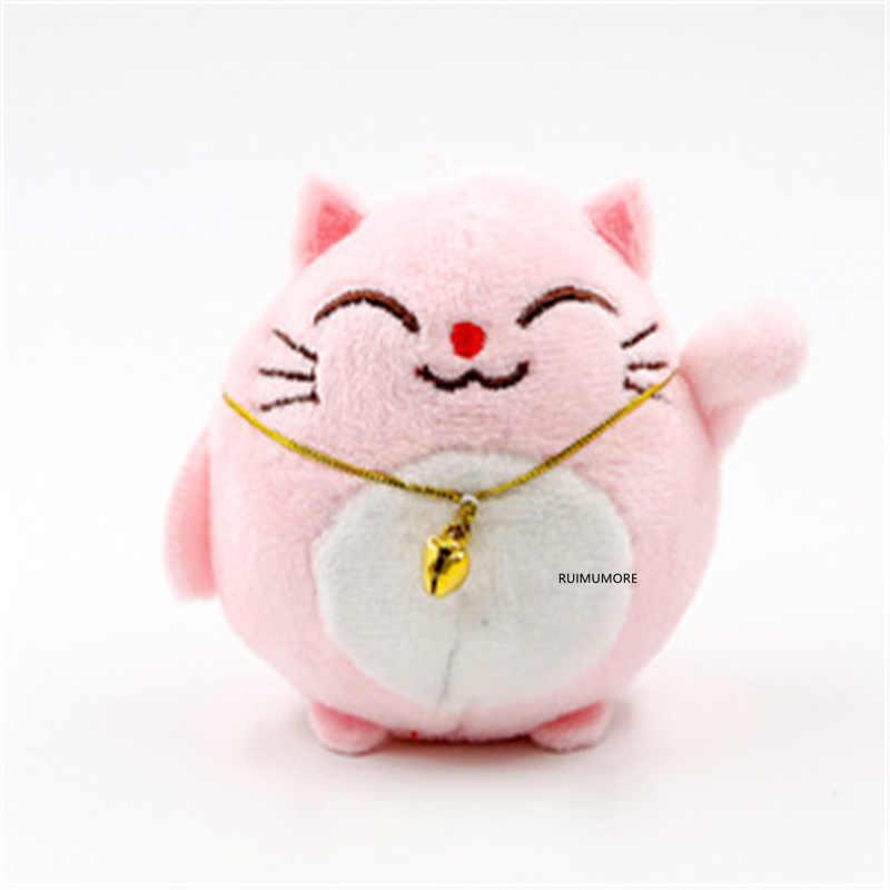 1 조각 임의의 색상-작은 고양이 플러시, 키 체인 펜던트 6CM 동물 인형 봉제 인형