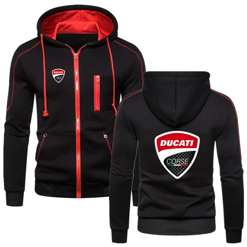 Ducati LOGO Hoodie Comfortable Male Clothes Anime Winter Autumn England Style Hip Hop Warm Popular Solid Color Tops Fast Deliver
