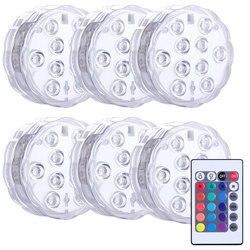 Погружной RGB светильник с дистанционным управлением, 10/13 светодиодов, питание от батарейки, подводный ночник, уличное украшение для вечевеч...