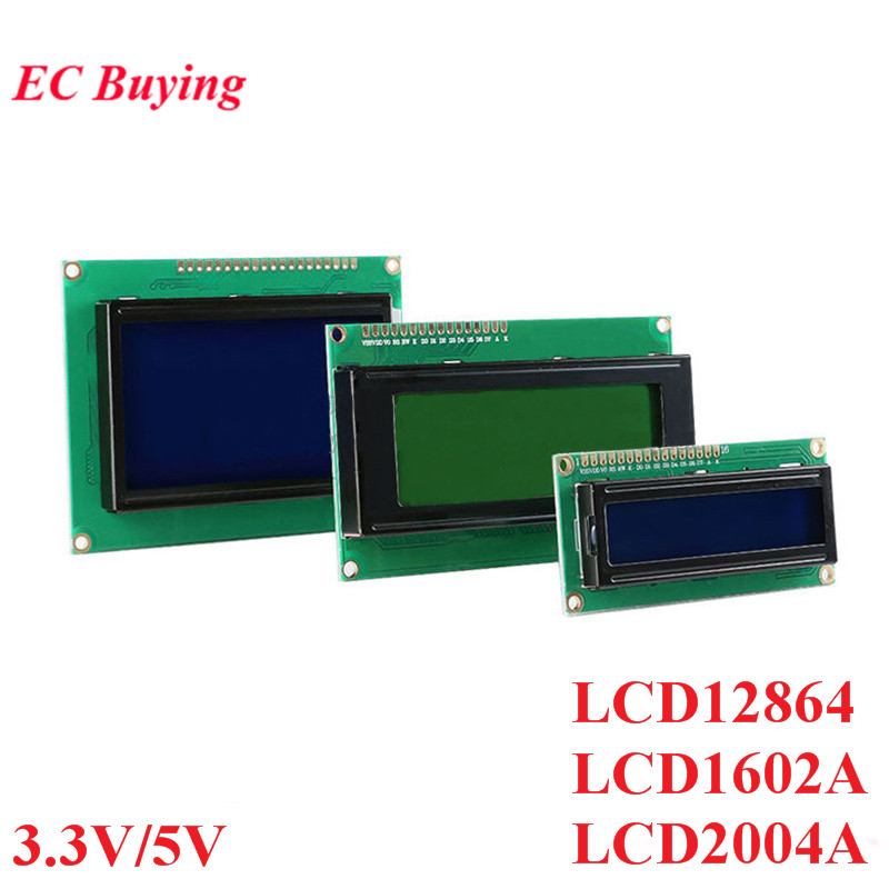 LCD Module 1602 1602A J204A 2004A 12864 12864B T LCD Display Module Blue Yellow-Green Screen Display IIC I2C 3.3V/5V For Arduino