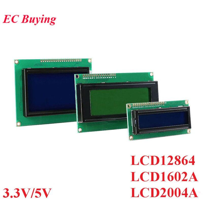 LCD Module 1602 1602A J204A 2004A 12864 LCD1602 Display Module IIC I2C 3.3V/5V For Arduino Blue Yellow-Green Screen