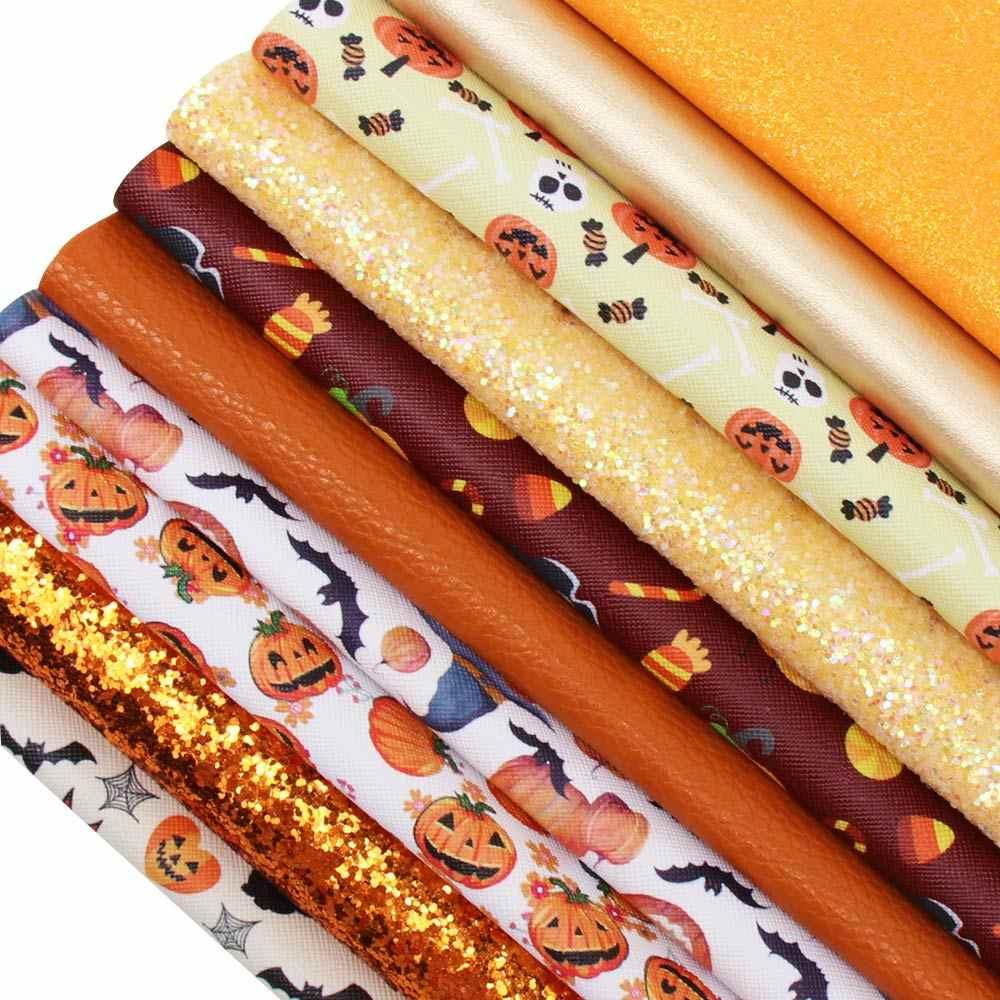 JOJO łuki 22*30cm 10 sztuk Faux skóry syntetycznej brokat arkusz tkaniny Holiday Party dekoracji DIY Hairbow ręcznie robione akcesoria modelarskie