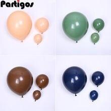 5/10/18 cal awokado zielony Dusty różowy karmel kawy balony Retro balon ślub dekoracja urodzinowa wystrój Baby Shower