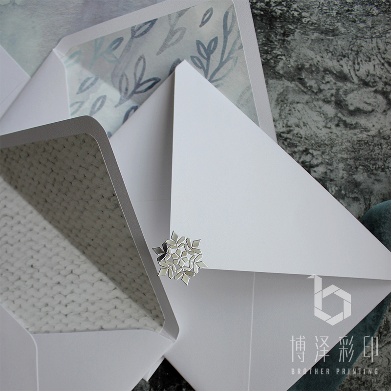 5pcs/pack 14cmX19cm Snow And Ice Pattern Wedding Envelopes Western Envelopes For Greeting Card Drop Shipping