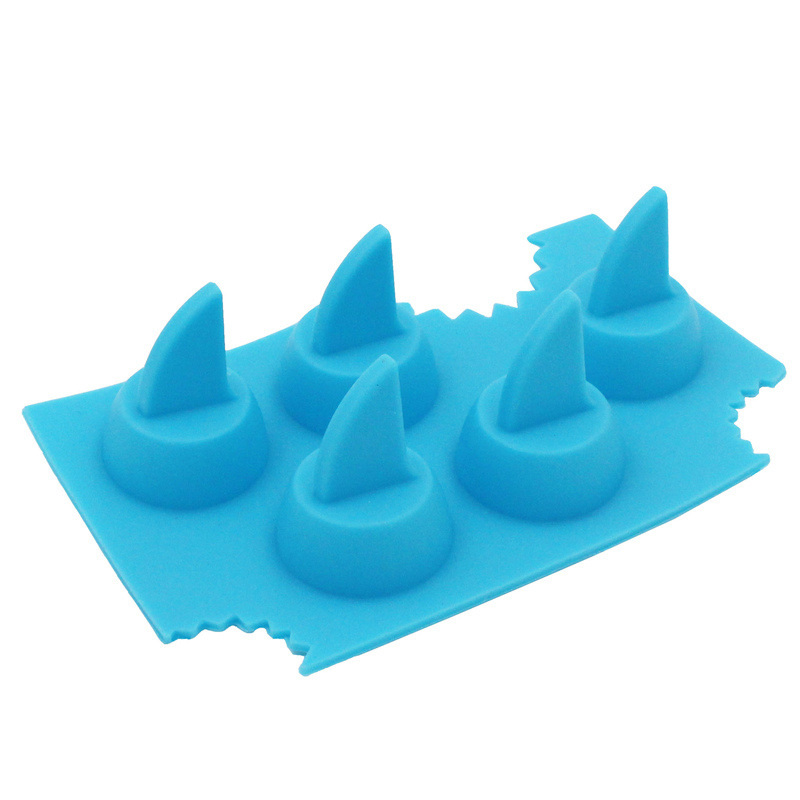 Creative Silica Gel Shark Ice Tray Easily Removable Mold Shark Fin Ice Grid Mold Shark Home Ice Maker Mould Manufacturers Low Pr