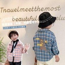 Plaid Shirt Jacket Blouse Spring Long-Sleeve Foreign-Style Clotheslb176 Baby Korean Boys