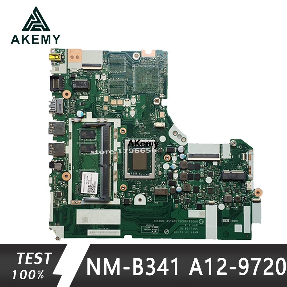 NM-B341 Laptop Motherboard For Lenovo 320-15ABR Original Mainboard 4GB-RAM A12-9720P