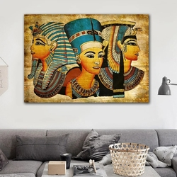 Egyptian Pharaoh Retro Canvas Painting Mural Prints Wall Art Picture Cuadros Home Decor for Living Room Bed Room Decoration