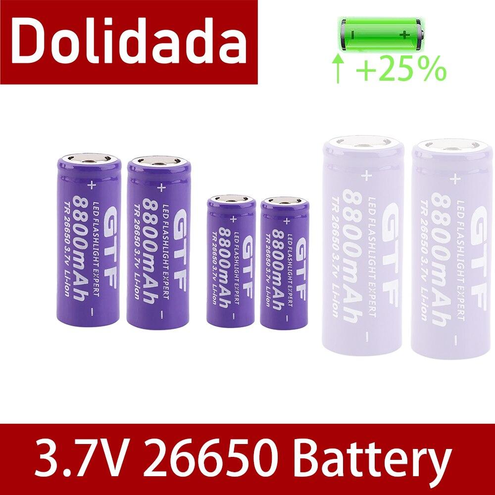 100% Новый 3,7 V 26650 Батарея 8800 мА/ч, литий-ионный аккумулятор Перезаряжаемые Батарея для светодиодный фонарик Фонарь Li-Ion Батарея аккумулятор Ба...