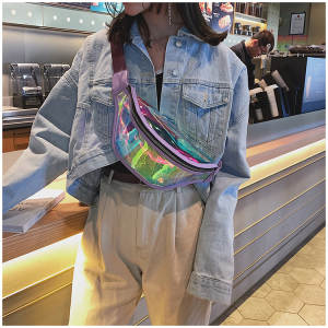 Pouch Fanny-Packs Holographic Bum-Bag Laser-Belt-Bags Punk Girls Waterproof Women Glitter