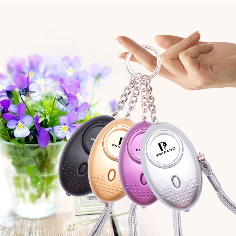 Pripaso Self Defense Alarm 130Db Security Protect Alert Personal Safety Scream Loud Keychain Emergency Alarm For Women Kids Girl