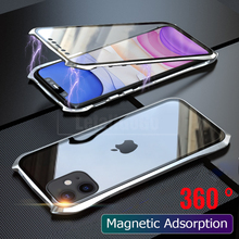 For iPhone 11 Pro Max Case Cover Magnetic case 360 Metal Bumber Full Protection Shockproof Phone