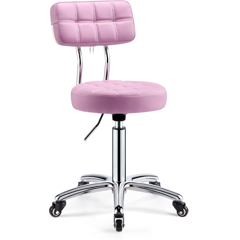 Barber Shop Chair Beauty Stool Nail Bench Beauty Salon Special Pulley Rotating Lifting Round Stool Hairdressing Work Bench