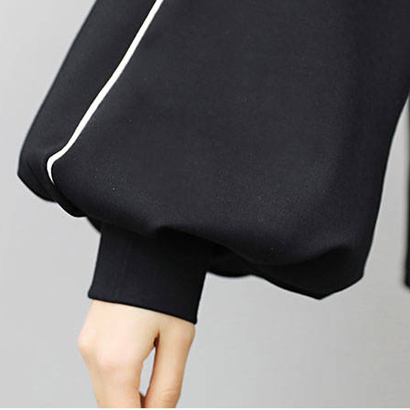 DEAT 2019 Autumn Women Fashion Suits Female Long Flare Sleeve Tops Elastic Waist Pants Casual Loose Outfits Tracksuits MG735 27