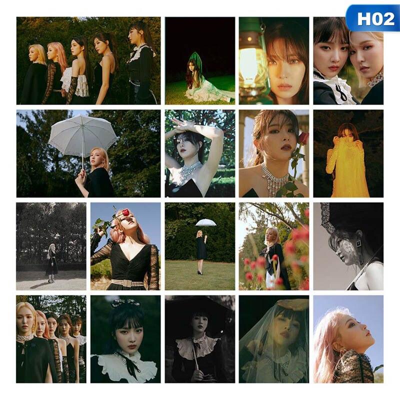 18Pcs KPOP Red Velvet  The ReVe Festival Finale Album Photo Card Hip Hop Self Made Paper Cards Autograph Photocard