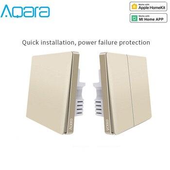 Xiaomi Aqara Gold Wall Switch No Neutral Line Light Switch Smart Home Wireless Wall Switch Zigbee Work With Aqara Hub gateway
