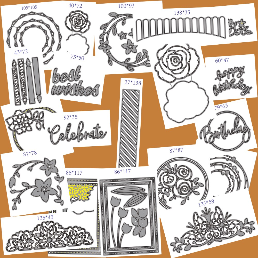 Metal Cutting Dies DIY Scrapbooking Paper Cards Decorative Craft Embossing