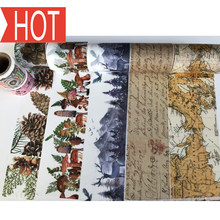 Free Shipping Jiataihe Washi Tape Maps Vintage Posters, English, DIY Scrapbook Paper Photo Album Japanese Masking Tape