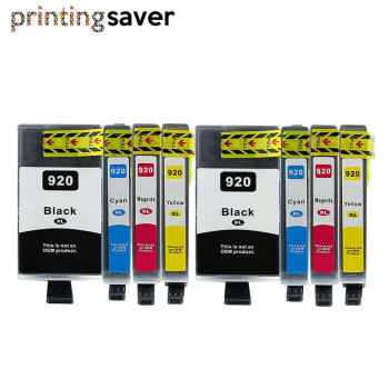 8Pcs HP920 920 compatible ink cartridge for HP 920XL Officejet 6000 6500 6500A 7000 7500 7500A printer