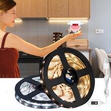 Рука развертка датчик светодиод полоса свет датчик движение и затемнение USB DC SMD 2835 5V свет полоса для кухни спальни ванной свет