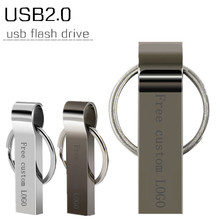 KRY usb flash drive 2.0 64GB 32GB 16GB 8GB 4GB pen USB2.0 waterproof portable key metal memory stick storage thumb U disk