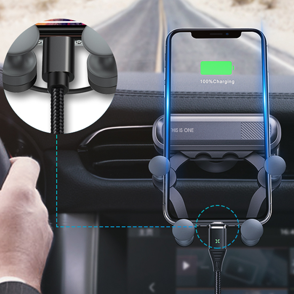 Universal Gravity Bracket GPS Car Phone Holder Air Vent Mount Stand Clip For Smartphone In Phone Ring Car Holder Soporte Movil
