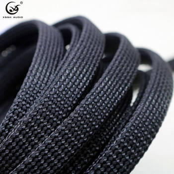 10m/20m 5mm 8mm 15mm 20mm 25m black cotton nylon special shock absorber braided sleeve cable sleeves sheath tube