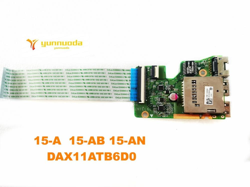 Original For HP 15-AB Laptop  Motherboard  USB Board 15-A  15-AB 15-AN  DAX11ATB6D0 Tested Good Free Shipping