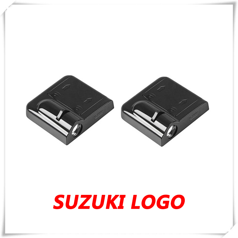 2X Car Logo LED Door Ghost Shadow Light Courtesy Laser Projector For Suzuki Alto HA25 HA35 Baleno Swift MZ EZ FZ NZ Vitara SX4