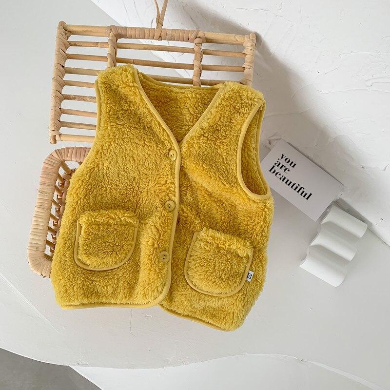 New Autumn Winter Children Vest Fur Baby Waistcoat Kids Light Vest for Girl Boy Toddler Children Clothes Fur Jacket Sleeveless 5