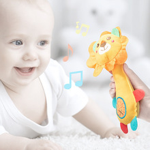 Cute Plush Toys Baby Soothing Rattle Animal BB stick Hand Bell Funny Educational For Kids Birthday Gifts