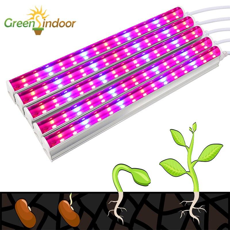 Indoor LED Grow Light Strip 5pcs Phyto Lamp Full Spectrum Lamp For Plants Fitolamp Lamp Plant Flower Growth Light Plant Shelves