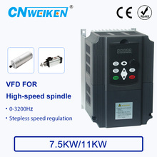 цена на high frequency inverter 0-3200Hz 380V 7.5kw/11kw  3 Phase 380v Output AC Drive VFD For High-speed spindle