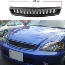 Car Front Sport Grill Grilles Grill For Honda Civic 1999-2000 Mesh Grille Intake Grille Car Styling grille grill for сосисок diolex 24 9 cm