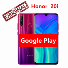 Global Rom Honor 20i Original Honor 20 lite Mobile Phone 6.21inch Hisilicon Kirin 7 Octa Core  Android 9.0 Face Fingerprint ID