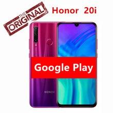 Оригинальный телефон Honor 20i, 6,21 дюймовый экран, Hisilicon Kirin 7 восемь ядер, Android 9.0, сканер лица и отпечатков пальцев, Honor 20 Lite, глобальная прошивка