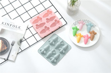 6 Cavity Carrot Silicone Mold Cake Chocolate Mold Child Cake Decorating Tools Fondant Cake Mold Handmade Soap Ice 3D Mold brush 12 cavity pineapple strawberry fruit silicone cake mold chocolate fondant mould cookie cupcake decoration ice 3d mold tool brush