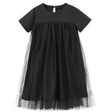 חדש 2020 ילדי בגדי תינוק נסיכת שמלות Mesh טלאים בנות מסיבת שמלת בגיל ההתבגרות ילדים קיץ שמלת כותנה חמודה, #8402