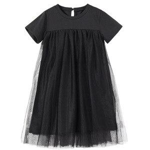 Image 1 - Mới 2020 Trẻ Em Quần Áo Cho Bé Công Chúa Váy Lưới Miếng Dán Cường Lực Bé Gái ĐẦM DỰ TIỆC Tuổi Thiếu Niên Trẻ Em Mùa Hè Cotton Dễ Thương, #8402
