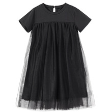 New 2020 Children Clothing Baby Princess Dresses Mesh Patchwork Girls Party Dress Teenage  Kids Summer Dress Cotton Cute, #8402