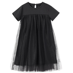 Image 1 - Nowy 2020 odzież dziecięca dziecko księżniczka sukienki siatkowy Patchwork sukienka dla dziewczynek na imprezę nastoletnia dziecięca letnia sukienka bawełniana śliczna, #8402