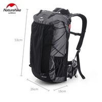 Naturehike 60L Climbing Backpack Ultralight Hiking Packs Waterproof Sports Bag Aluminum Frame Large Capacity For Outdoor Camping