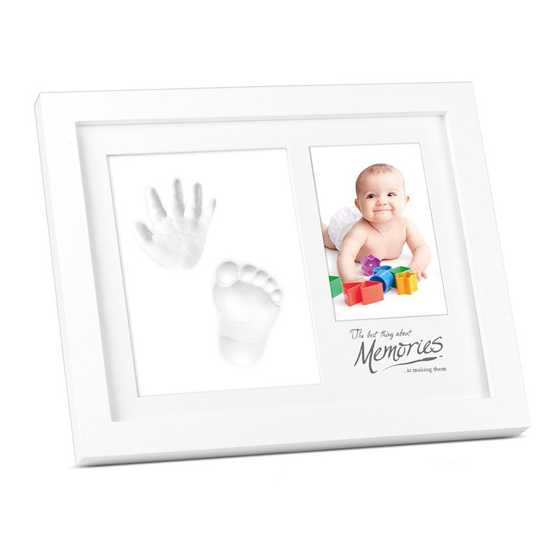 Photo Frame Baby Footprint Foot Or Hand Print Cast Set DIY Handprint Parent-child Hand Fingerprint Baby Growth Memorial Gift