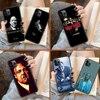 Sopranos TV Mafia etui na telefon IPhone 4 4s 5 5S SE 5C 6 6S 7 8 Plus X XS XR 11 12 Mini Pro Max 2020 czarna komórka moda zderzak
