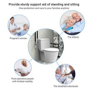 Schwarz Bad Haltegriff Griff Flip-up Schraube-in Wc Sicherheit Schiene Hand Grip Hause Gesunde Pflege Ausrüstung für Ältere Behinderte