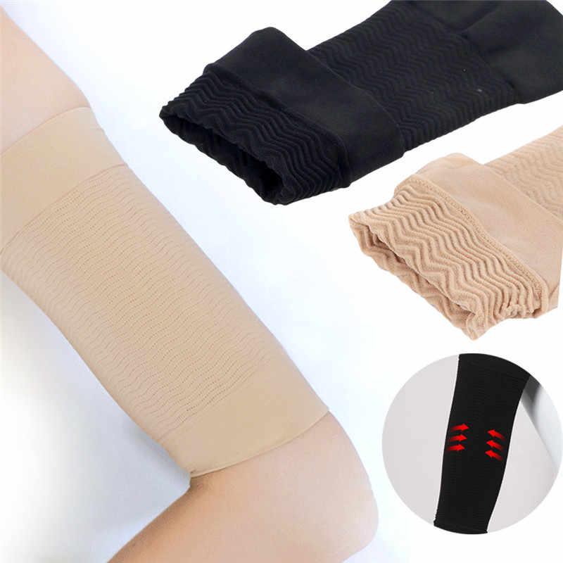 2 adet kilo kaybı kalori kapalı sıkıştırma kol bacak şekillendirici kol Varicose damarlar desteği tenis spor dirsek çorap zayıflama sarar