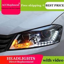 For VW Passat B7 2012 2015 Headlights All LED Headlight DRL Dynamic Signal Hid Head Lamp Bi Xenon Beam Accessories Car Styling