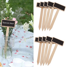 Tags-House-Decorations Blackboard-Signs Garden-Decor 20PCS Wooden Plants And Mini Durable